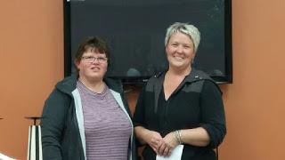 Linda Holmes (left) and Wanita DeVries
